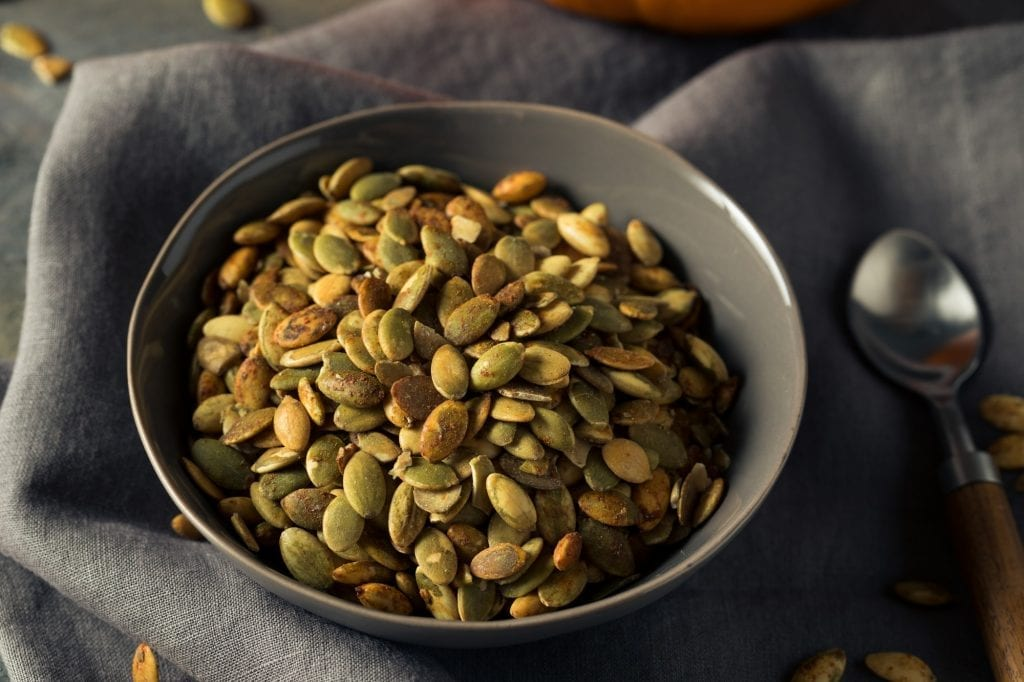 Organic Spicy Homemade Pumpkin Seeds