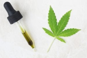 Dropper of CBD Oil